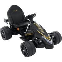Carrinho Elétrico Infantil Fórmula Esporte, 12V Belfix Bel Brink - Unissex-Preto