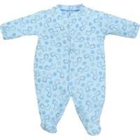 Macacão Pijama Longo Bebê Tilly Baby Girafinhas - Masculino