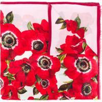 Dolce & Gabbana Echarpe Com Estampa Floral - Vermelho