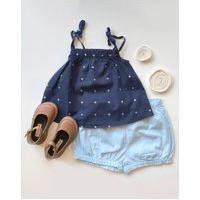 Amaro Feminino Nutti Conjunto Infantil Summer, Azul