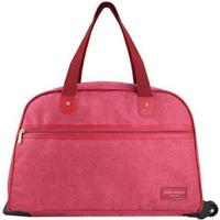 Bolsa De Viagem Jacki Design Com Rodinhas Be You - Unissex-Vermelho