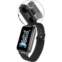 Smartwatch Com Fone De Ouvido Sdbc T89 Bluetooth 5.0 Com Case - Preto
