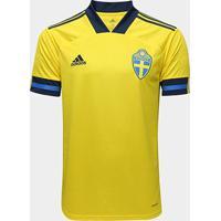 Camisa Seleção Suécia Home 19/20 - Torcedor S/Nº Adidas Masculina - Masculino