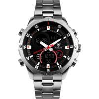 Relógio Tuguir Digital Tg1146 Prata E Preto