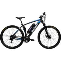 Bicicleta Elétrica Machine Motors Liberty 350W 36V Preto/Azul