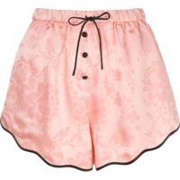 Morgan Lane Short Tally De Jacquard Floral - Rosa