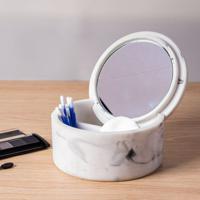 Porta Acessórios Para Banheiro De Bancada Marmorizado Branco Coisas E Coisinhas