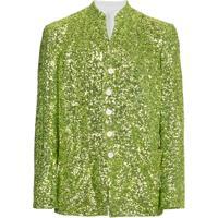 Comme Des Garçons Homme Plus Blazer Com Paetês - Green