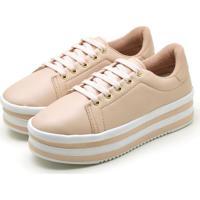 Tênis Casual Ousy Shoes Sapatenis Flatform Rosa