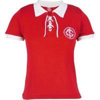 Camisa Internacional Retrô Cordinha N°9 Feminina - Feminino-Vermelho