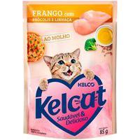 Ração Para Gatos Kelcat Frango Com Brócolis E Linhaça Sachê 85G