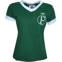 Camisa Liga Retrô Palmeiras 1951 Feminina - Masculino-Verde