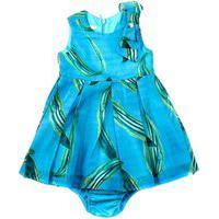 Vestido / Calcinha Infantil / Baby Em Voial Com Forro De Tricoline - 1+1 Turquesa