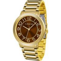Relógio Feminino Lince Lrgh046L M2Kx Casual D - Unissex-Dourado