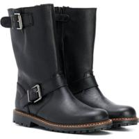 Bonpoint Buckled Boots - Preto