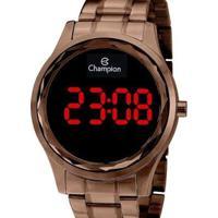 Relógio Champion Digital Feminino - Feminino-Marrom