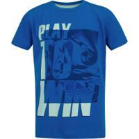 Camiseta Oxer Print Color - Infantil - Azul