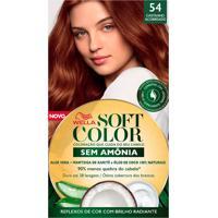 Tintura Soft Color Sem Amônia Castanho Acobreado 54 Kit