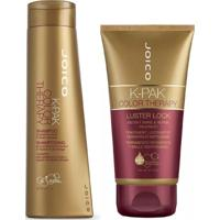 Joico Shampoo K-Pak Color Therapy 300 Ml + Máscara Therapy Luster Lock 140 Ml Caramelo