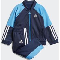 Agasalho Adidas Infantil Shiny - Unissex-Azul
