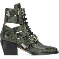 Chloé Ankle Boot Rylee - Verde