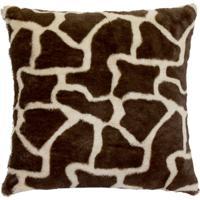 Capa Para Almofada Pele De Animal 60X60Cm Girafa