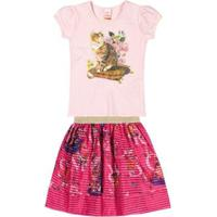 Conjunto Infantil Marisol Feminino - Feminino-Rosa