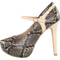 Scarpin Meia Pata Week Shoes Animal Print