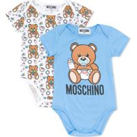 Moschino Kids Conjunto 2 Bodies Com Estampa Teddy Bear - Branco