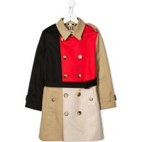 Burberry Kids Belted Colour-Blocked Trench Coat - Neutro
