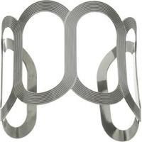 Bracelete Texturizado- Prateado- Regulávelpri Schiavinato