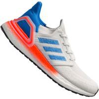 Tênis Adidas Ultraboost 20 - Masculino - Branco/Azul