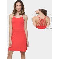 Vestido La Gata Evasê Tiras Costas - Feminino-Vermelho