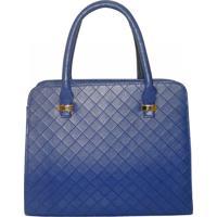 Bolsa Real Arte Maleta Azul - Azul - Feminino - Dafiti