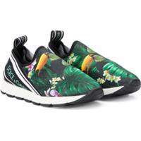 Dolce & Gabbana Kids Sorrento Slip-On Sneakers - Preto