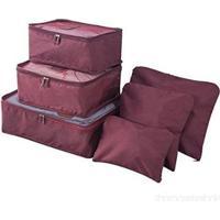 Kit 6 Sacos Bolsas Organizador Mala Roupas Bagagem Viagem Roxo 2 - Unissex-Rosa