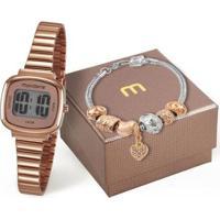Kit Relógio Mondaine 53717Lpmvre2K1 Pulseira Digital Feminino - Feminino-Rosê