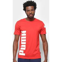 Camiseta Puma Big Logo Masculina - Masculino-Vermelho