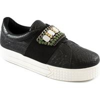 Tênis Slip On Croco Pedras Número Grande Sapato Show 32503
