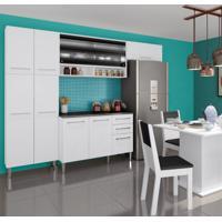 Cozinha Compacta 05 Peças Amarilis 12 Portas E 2 Gavetas Branco E Branco