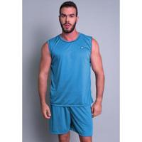 Pijama Mvb Modas Curto Camiseta Masculino - Masculino-Cinza