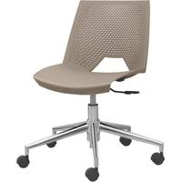 Cadeira Strike Assento Bege Base Rodizio Em Aluminio - 54079 - Sun House