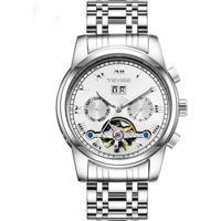 Relógio Tevise T9005 Masculino Automático Pulseira De Aço - Branco