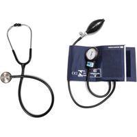 Aparelho De Pressão Com Estetoscópio Master Standard Inox Azul Cj0839 Bic