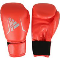 Kit De Boxe Adidas: Bandagem + Protetor Bucal + Luvas De Boxe Speed 50 - 12 Oz - Adulto - Vermelho
