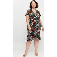 Vestido Midi Almaria Plus Size Pianeta Faixa Embut