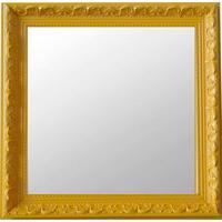 Espelho Moldura Rococó Raso 16373 Amarelo Art Shop