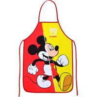 """Avental Mickeyâ® """"90""""- Vermelho & Amarelo- 100X49Cm"""