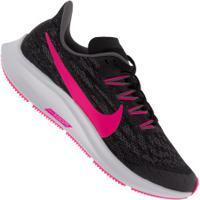 Tênis Infantil Nike Air Zoom Pegasus 36 - Preto/Rosa