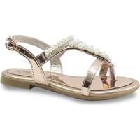 Sandália Infantil Klin Tiffany 277.004000 - Feminino-Dourado